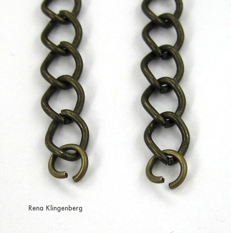 side chains for Chain Reaction Necklace - tutorial by Rena Klingenberg