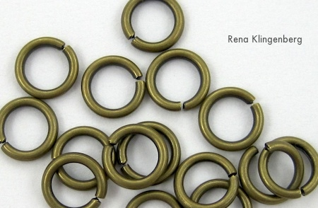 jump rings for Chain Reaction Necklace - tutorial by Rena Klingenberg