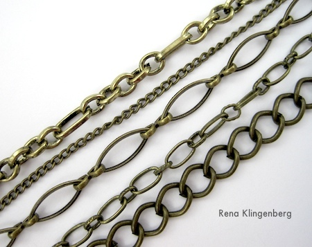 chains for Chain Reaction Necklace - tutorial by Rena Klingenberg