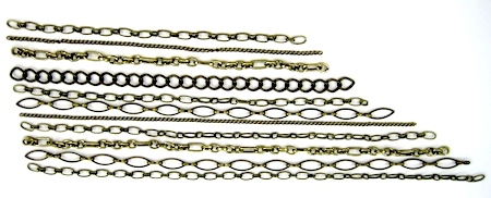 chains for bib of Chain Reaction Necklace - tutorial by Rena Klingenberg