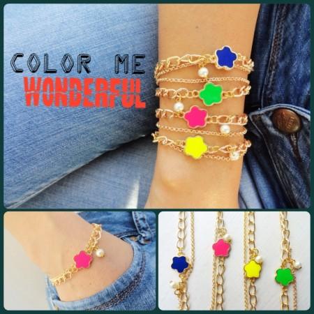 Neon Charm Bracelets