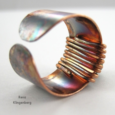 Rugged & Rustic Adjustable Ring - tutorial by Rena Klingenberg