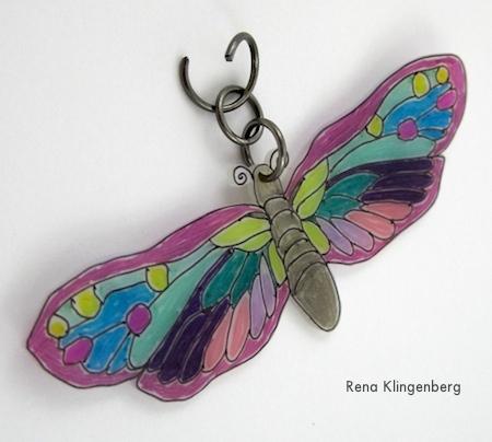 Butterfly Pendant for No-Sew Stretchy Wrap Bracelets - Tutorial by Rena Klingenberg
