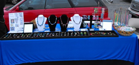 Leslie: My First Jewelry Table Setup at the Flea Market
