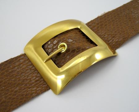 Belt Buckle Bracelet - tutorial by Rena Klingenberg