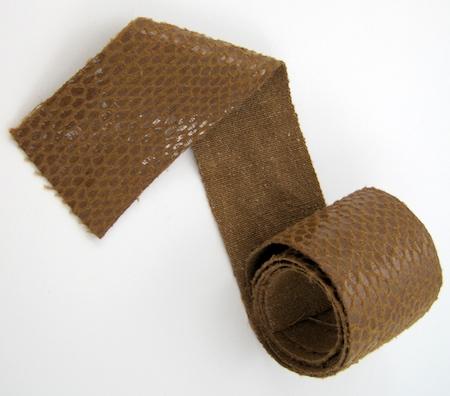Snakeskin fabric for Belt Buckle Bracelet - tutorial by Rena Klingenberg