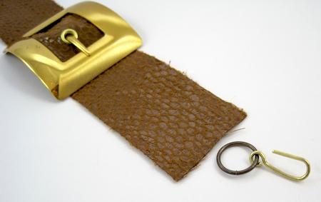 Attaching clasp for Belt Buckle Bracelet - tutorial by Rena Klingenberg
