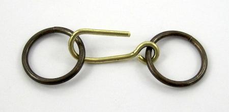 Hook clasp with jump rings for Belt Buckle Bracelet - tutorial by Rena Klingenberg