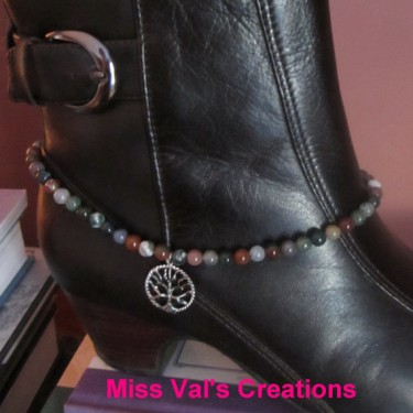 Fancy Jasper and Tree of Life Boot Bracelet
