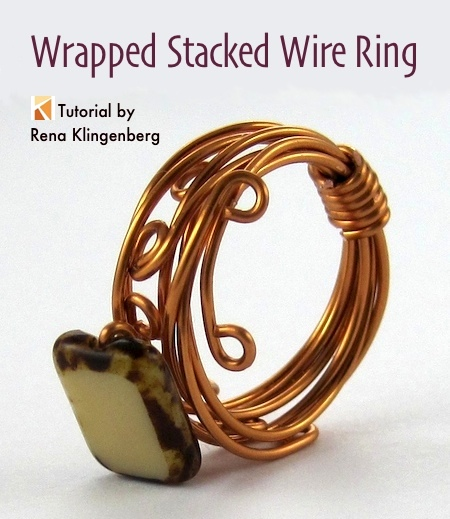 Wrapped Stacked Wire Ring Tutorial Jewelry Making Journal