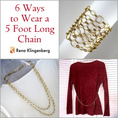 6 Ways to Wear a 5-Foot Long Chain - by Rena Klingenberg