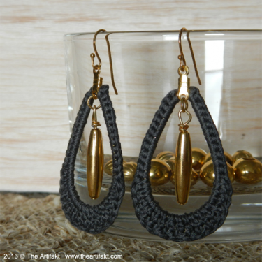 Teardrop Crochet Earring