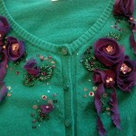 "My ""Purple Roses of Cairo"" Necklace Became Sweater Jewellery"