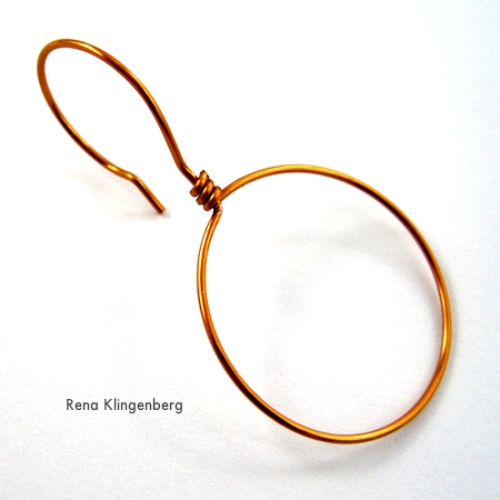 Plain Hoop from Beaded Hoop Earwires (Tutorial)