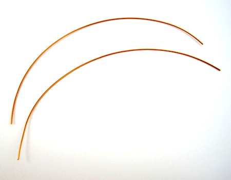 Wires for Beaded Hoop Earwires - tutorial by Rena Klingenberg