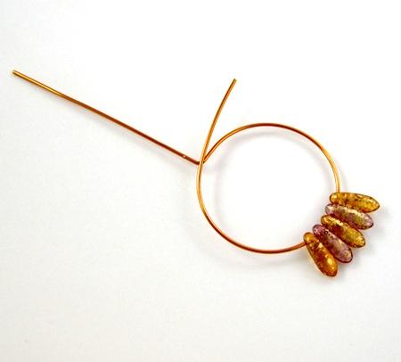 Beaded Hoop Earwires - tutorial by Rena Klingenberg