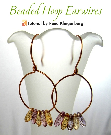 Beaded Hoop Earwires - tutorial by Rena Klingenberg