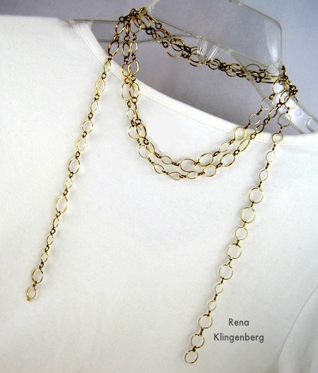 Chain Scarf - 6 Ways to Wear a 5-Foot Long Chain - by Rena Klingenberg