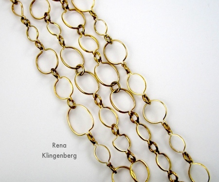 Chain Strands - 6 Ways to Wear a 5-Foot Long Chain - by Rena Klingenberg