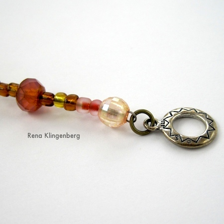 A Pretty Crimp Bead Cover Alternative - tutorial by Rena Klingenberg