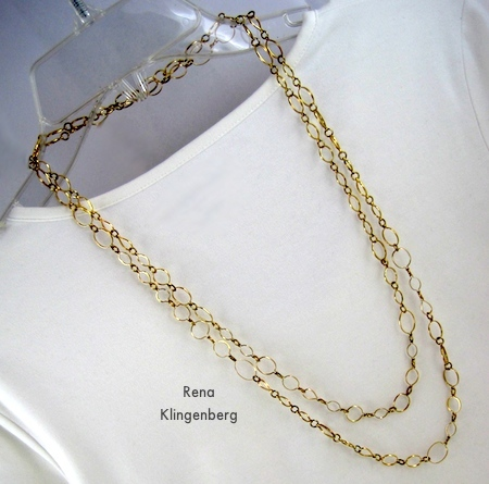 Double-Strand Necklace - 6 Ways to Wear a 5-Foot Long Chain - by Rena Klingenberg