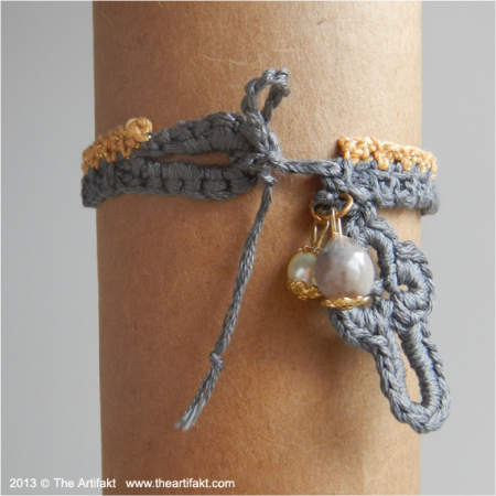Crochet Bracelet with Charms