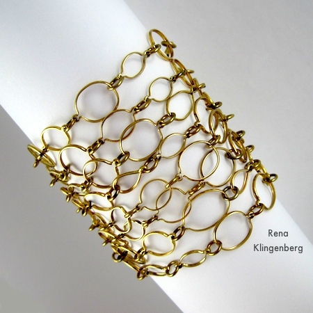 Multi-Strand Bracelet - 6 Ways to Wear a 5-Foot Long Chain - by Rena Klingenberg