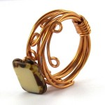 Wrapped Stacked Wire Ring - tutorial by Rena Klingenberg