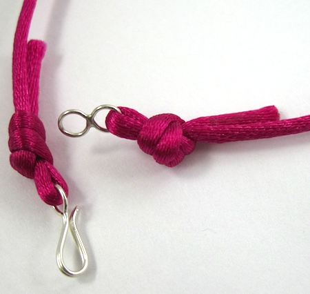 Finished cord ends for Colorful Reversible Necklaces - tutorial by Rena Klingenberg