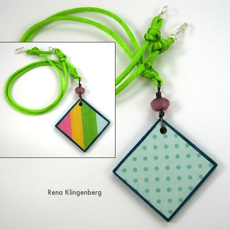 Choker-length necklace from Colorful Reversible Necklaces - tutorial by Rena Klingenberg
