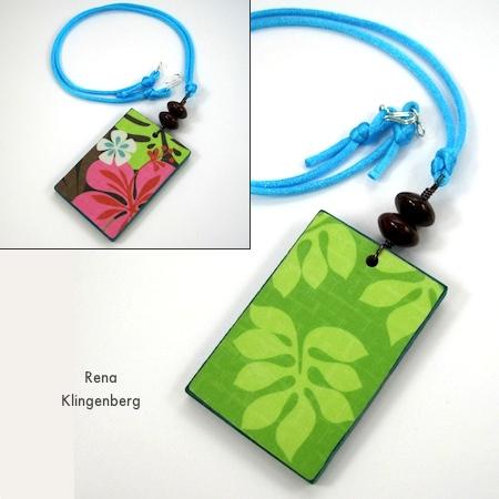 Colorful Reversible Necklaces - tutorial by Rena Klingenberg