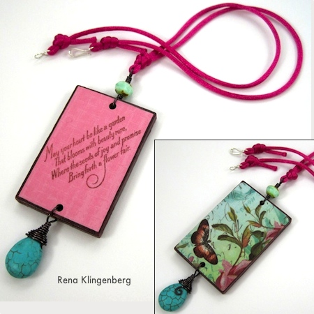 Colorful Reversible Necklaces - tutorial by Rena Klingenberg