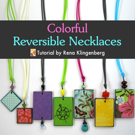 Colorful reversible necklaces tutorial