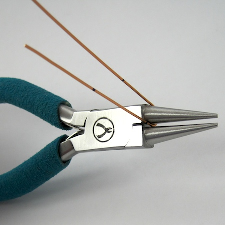 Making the top curve of the heart for Heart Earwires - tutorial by Rena Klingenberg