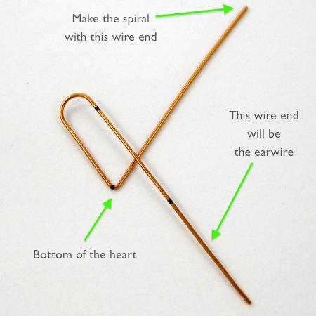 Half of the heart for Heart Earwires - tutorial by Rena Klingenberg