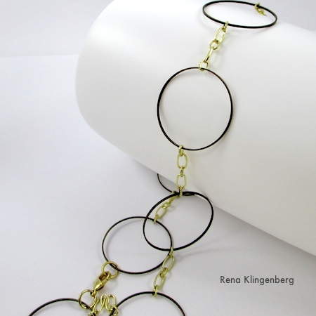 Dramatic Necklace from Jewelry Links and Chain Scraps - tutorial by Rena Klingenberg