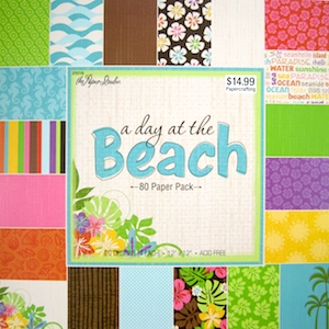 Pad of scrapbooking paper for Colorful Reversible Necklaces - tutorial by Rena Klingenberg