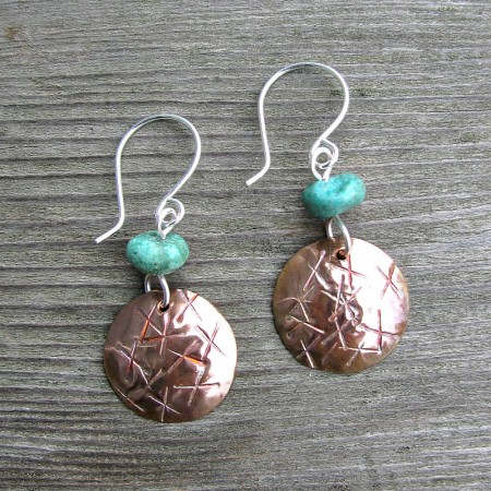 LCarson: Embossed Copper Earrings 2