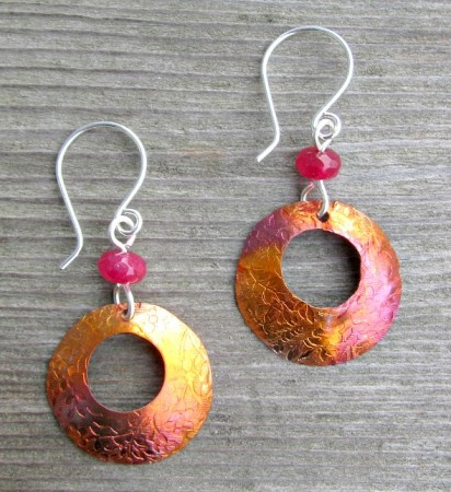 LCarson: Embossed Copper Earrings 3