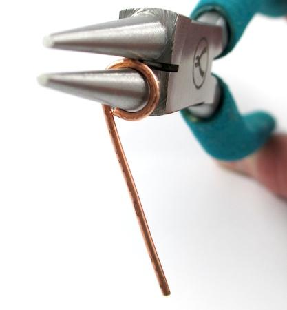Making loop for Easy Wire Hook Clasp - tutorial by Rena Klingenberg