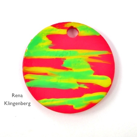 Nail Polish Jewelry Reversible Pendants - tutorial by Rena Klingenberg
