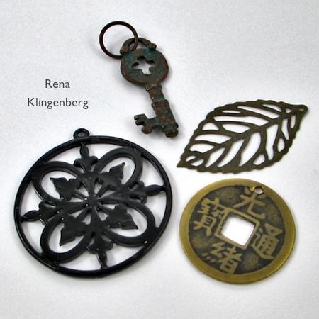 Pingentes reversíveis de joias com verniz para as unhas - tutorial por Rena Klingenberg