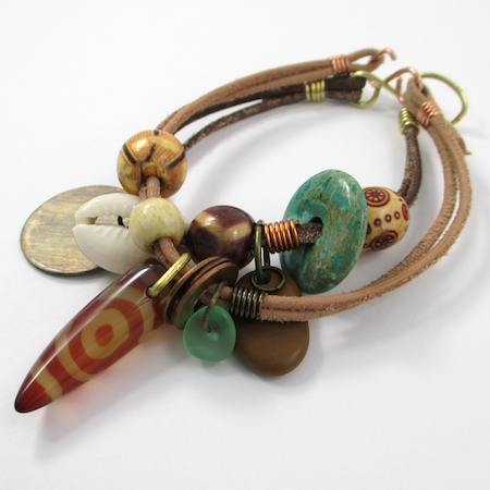 Safari Leather Bracelet for Guys & Gals (Tutorial)