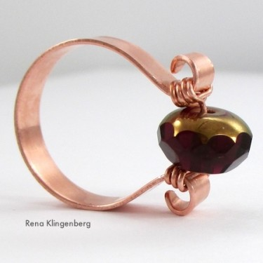 Scroll Ring with Spinner Bead (Tutorial)