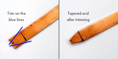 Tapering the ring ends for Scroll Ring with Spinner Bead - tutorial by Rena Klingenberg
