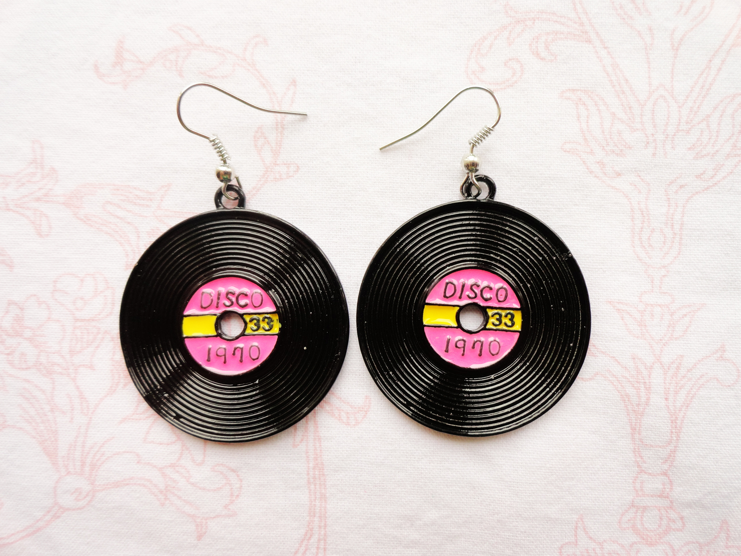 70's Disco Records Earrings