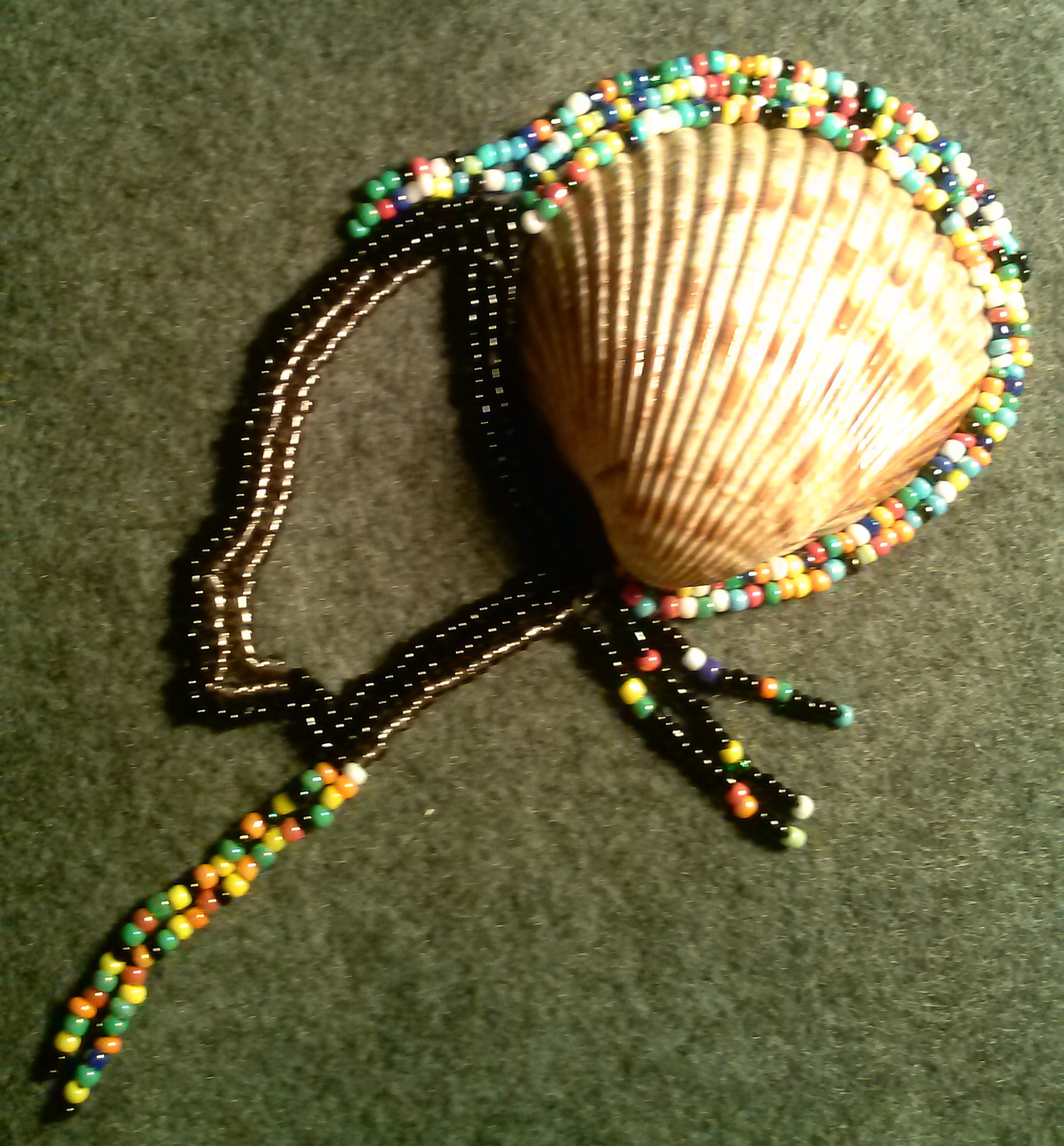 African Woman: Beaded Embroidery Headress