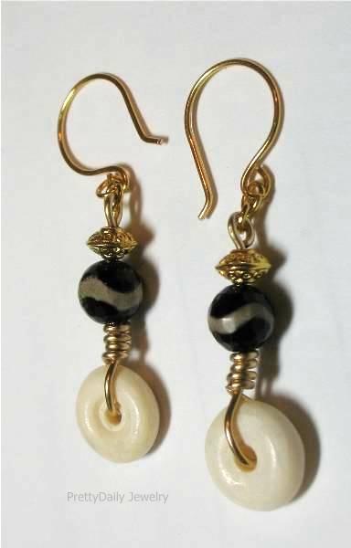 Ebony & Ivory Earrings