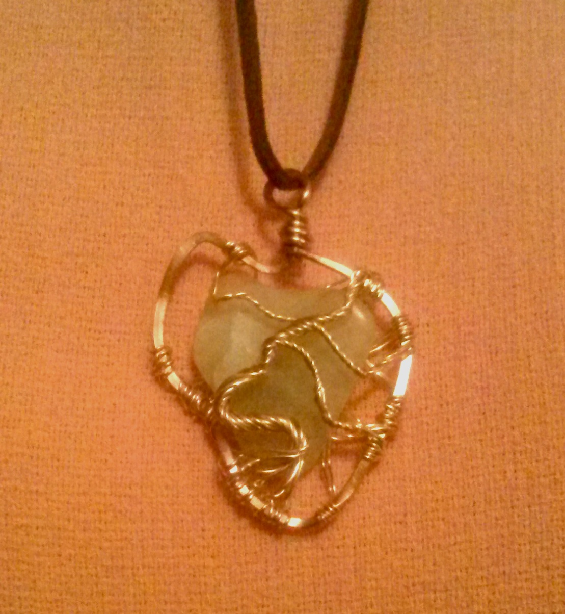 African Tree of Life Jade Gemstone Pendant