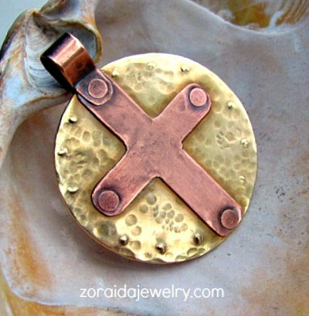 The Cross in a Circle pendant
